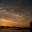 sunset at knapdale by Caroline Cage