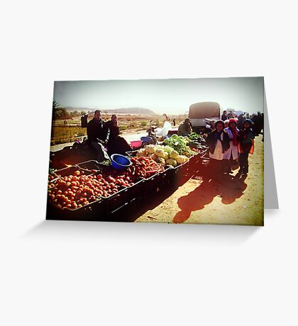 Beautiful Algeria - Village Market Greeting Card