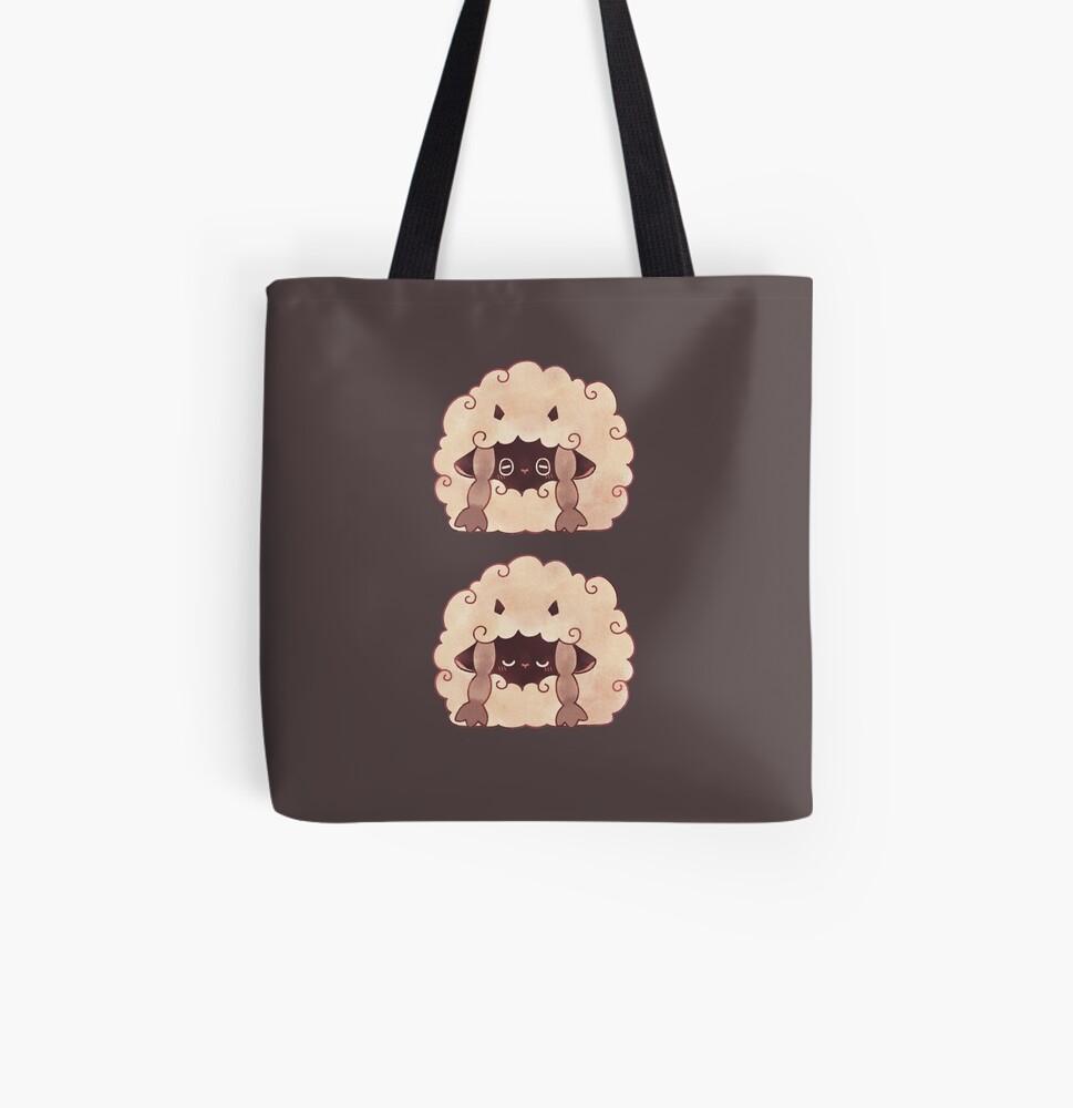 Sleepy Wooloo [C] All Over Print Tote Bag