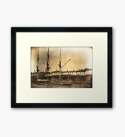 Tall ship.  Framed Print