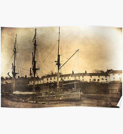 Tall ship.  Poster