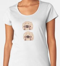 Sleepy Wooloo [C] Premium Scoop T-Shirt