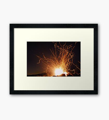 Campfire and Stars Framed Print