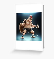 KFC Fighter Greeting Card