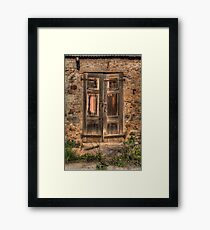 The Old Door Framed Print