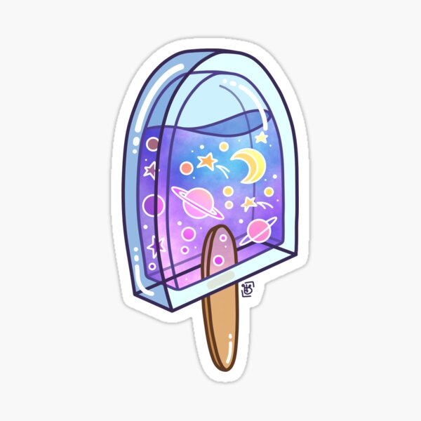 Galaxy Ice Pop Sticker
