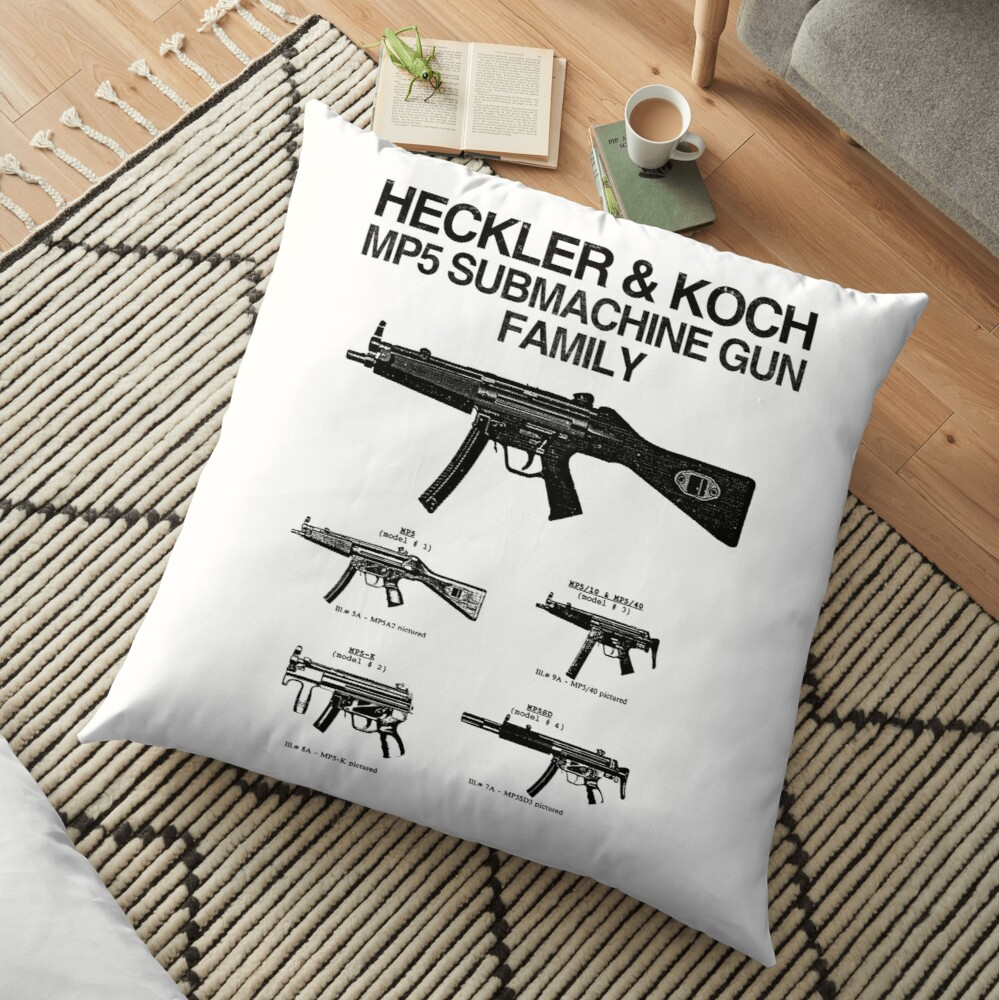 Copy of MP5 SUBMACHINE GUN FAMILY Floor Pillow