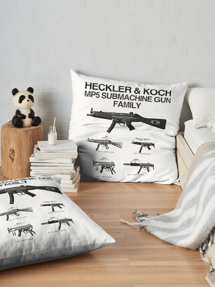 Alternate view of Copy of MP5 SUBMACHINE GUN FAMILY Floor Pillow