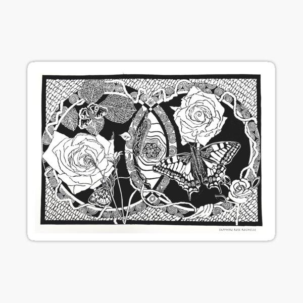 LOVE (black on white) Sticker
