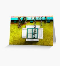 Faith Goes Out Thru The WINDOW When Beauty Comes In At The Door. Greeting Card