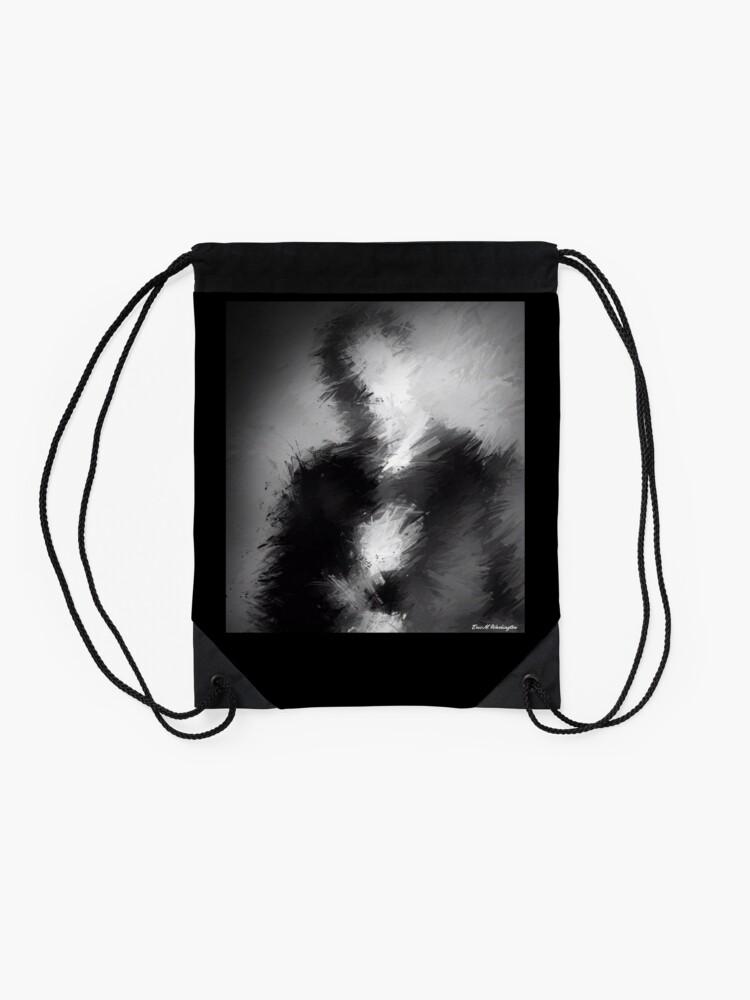 Alternate view of The Abstract Washington Drawstring Bag