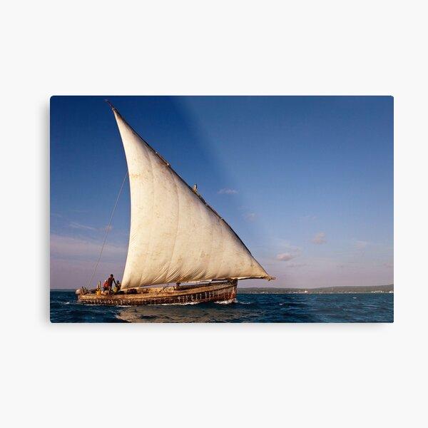 Sailing Dhow Metal Print