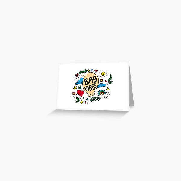 bag vibes Greeting Card