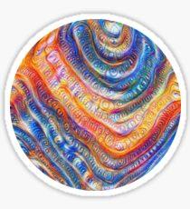#Deepdreamed planet Glossy Sticker