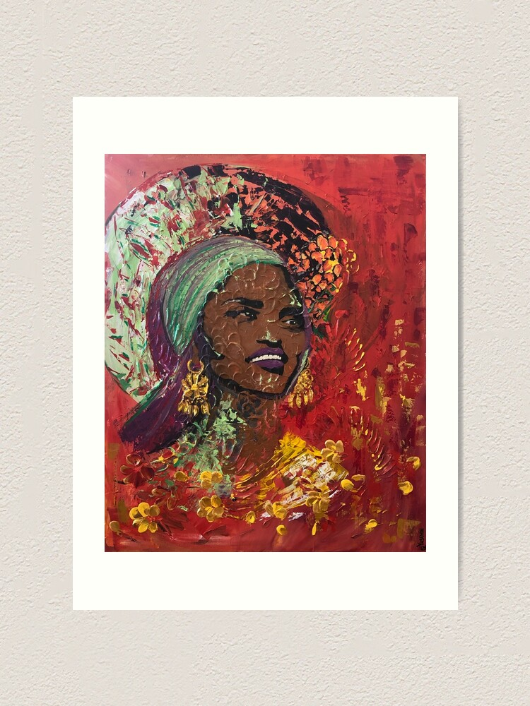 Alternate view of African Queen Art Print