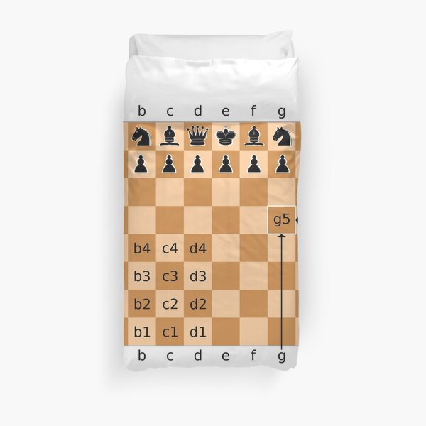 Chess, #board #game, #chessmen, #chess pieces, recording, coding, chess, time, squares, illustration, leisure games, indoors, geometric shape, Duvet Cover