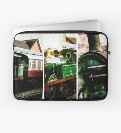 Steam on the Bluebell Line Laptop Sleeve