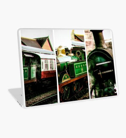 Steam on the Bluebell Line Laptop Skin