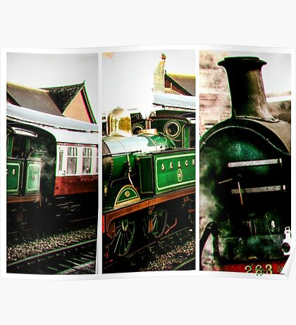 Steam on the Bluebell Line Poster