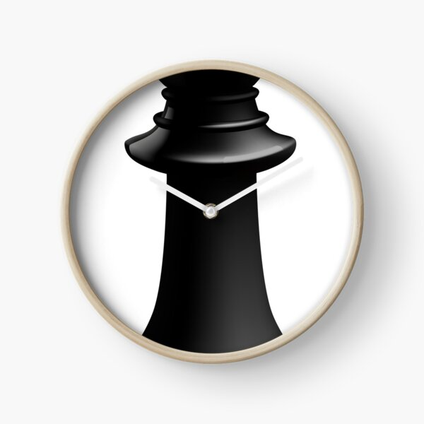 Bishop Black Chess Piece Clock