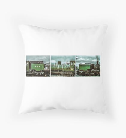 Steam in Wales  Throw Pillow