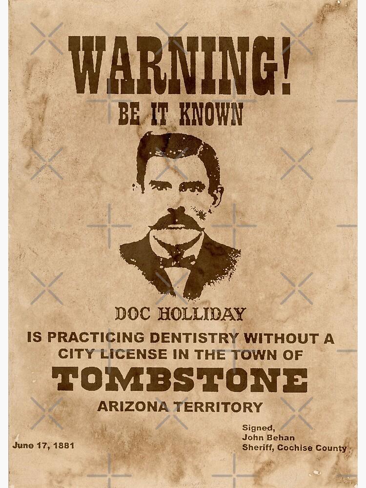 Doc Holliday Warning Poster by FantasySkyArt