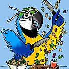 Chop Macaw by Skye Elizabeth  Tranter