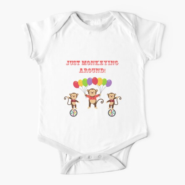 Just monkeying around! Short Sleeve Baby One-Piece