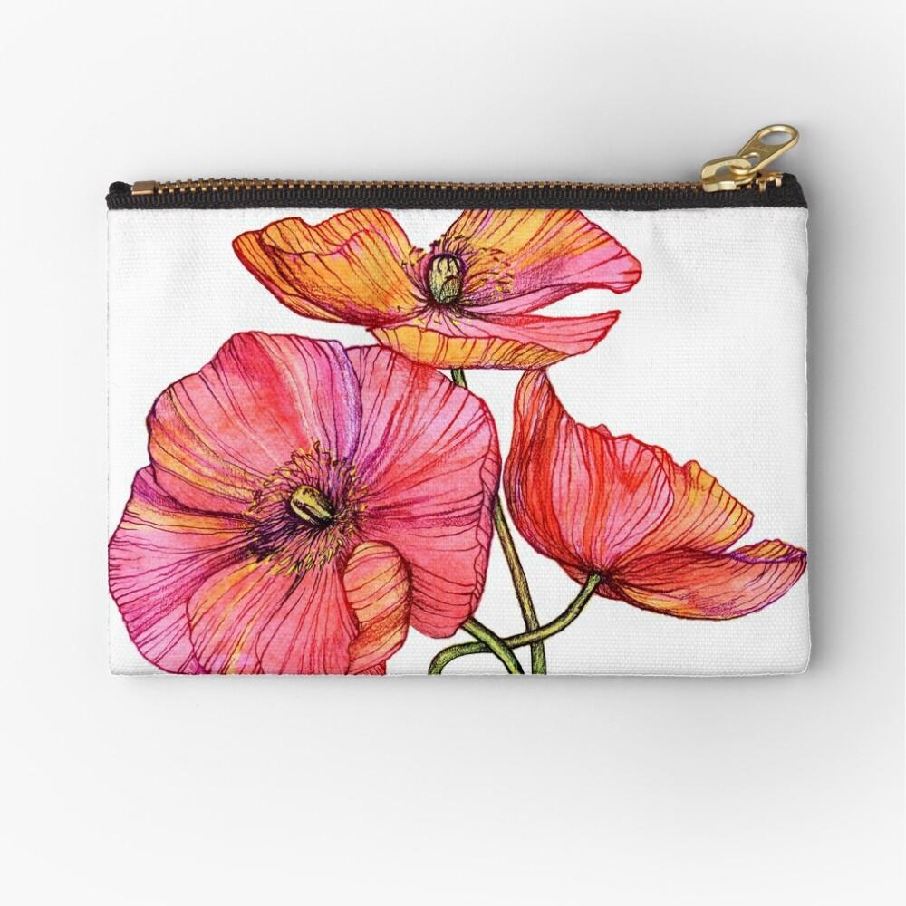 Peach & Pink Poppy Tangle Bolsos de mano