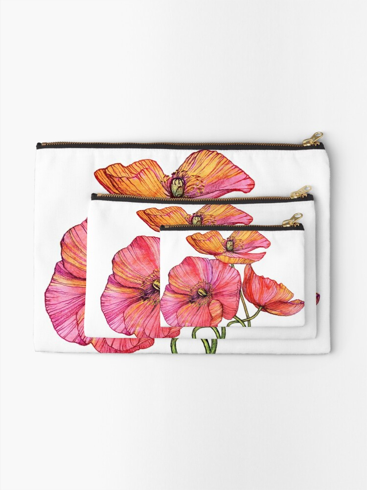 Vista alternativa de Bolsos de mano Peach & Pink Poppy Tangle