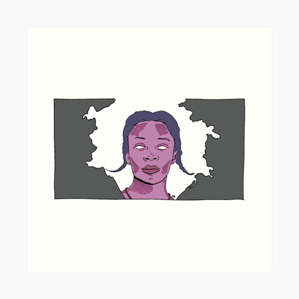 2019 03 line art kara walker digital painting Art Print