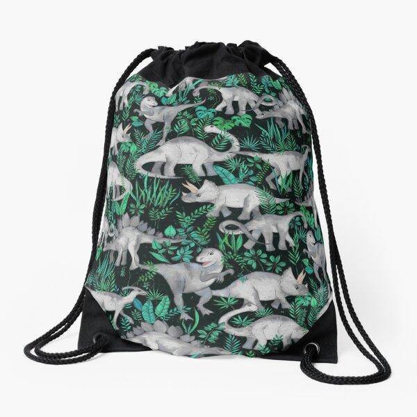 Dinosaur Jungle Drawstring Bag