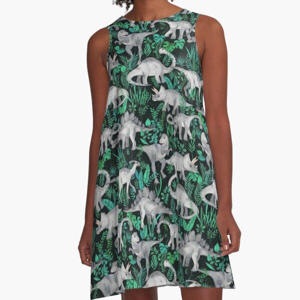 Dinosaur Jungle A-Line Dress