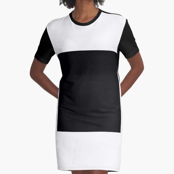 7632x7632 Black Square Graphic T-Shirt Dress