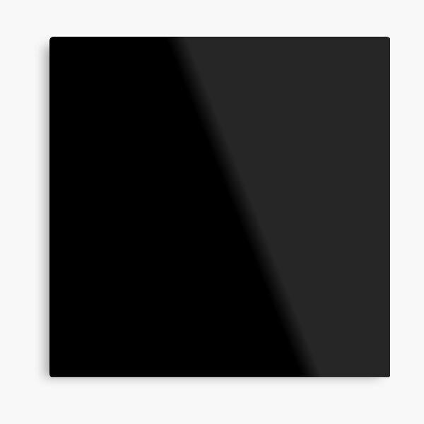 7632x7632 Black Square Metal Print