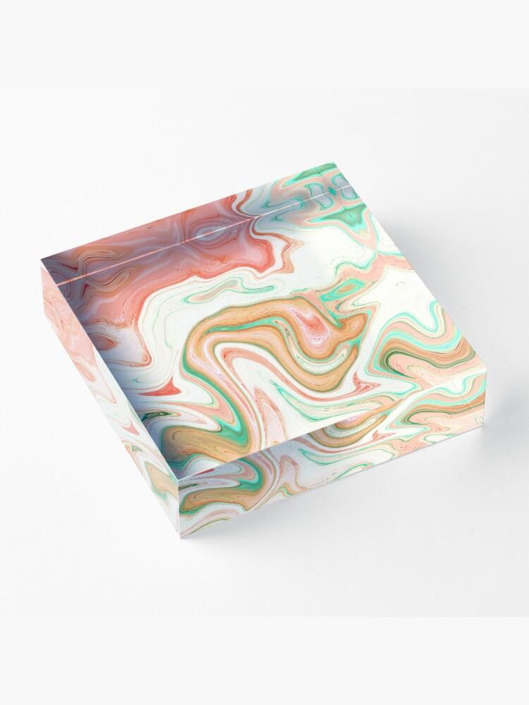 Alternate view of Musk Melon #abstract #digitalart Acrylic Block