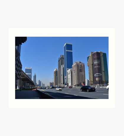 Dubai, Sheikh Zayed Road Art Print