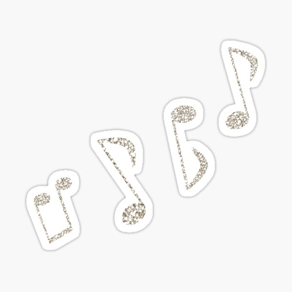 Sparkly Music Notes Sticker