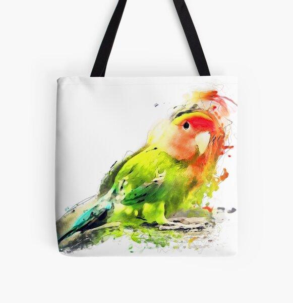 Lovebird All Over Print Tote Bag