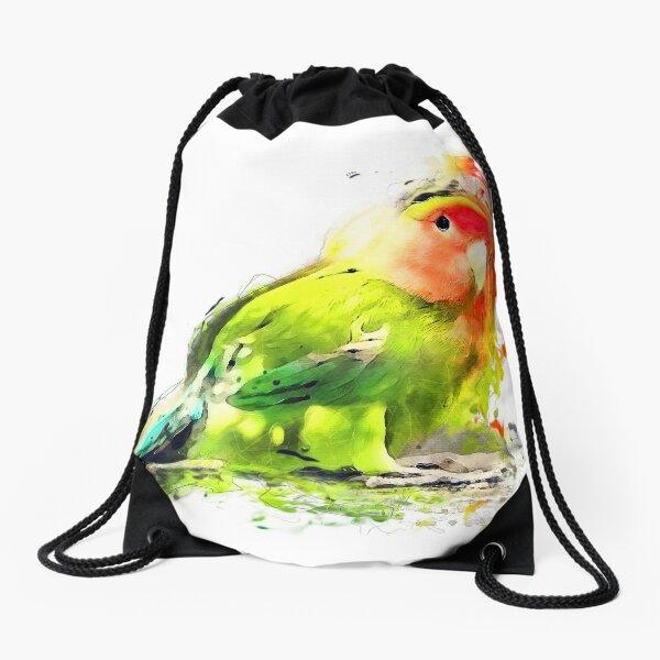 Lovebird Drawstring Bag
