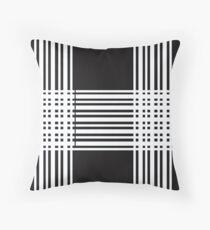 Stripes White Black Floor Pillow