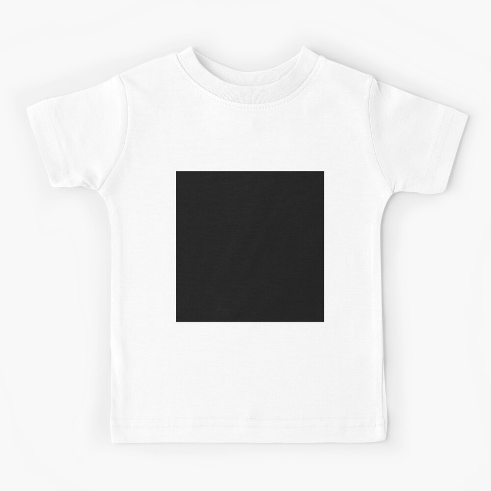 7632x7632 Black Square Kids T-Shirt