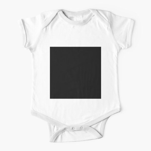 7632x7632 Black Square Short Sleeve Baby One-Piece