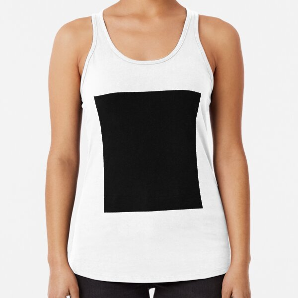 7632x7632 Black Square Racerback Tank Top