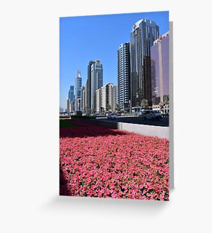Dubai, Sheikh Zayed Road Greeting Card