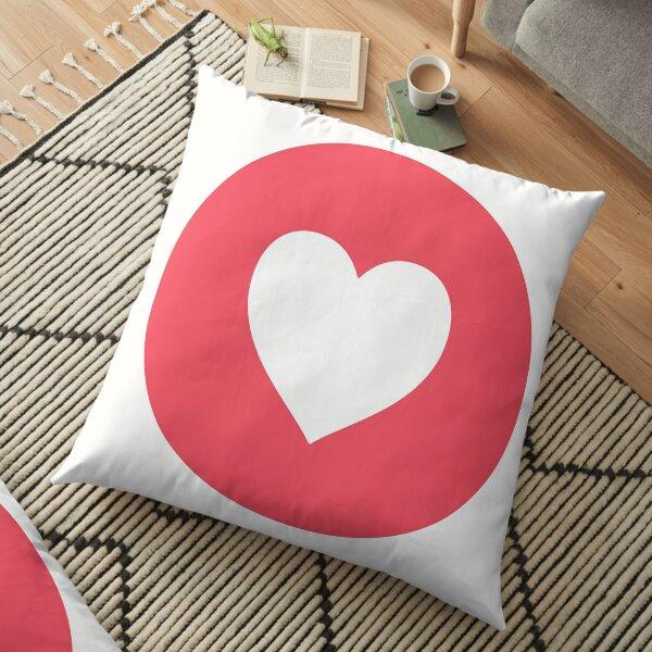 One Single #Heart Floor Pillow