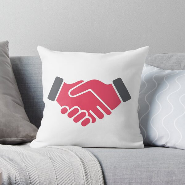 #Red #Handshake #Icon  Throw Pillow