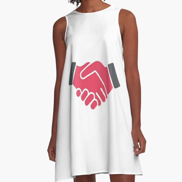 #Red #Handshake #Icon  A-Line Dress
