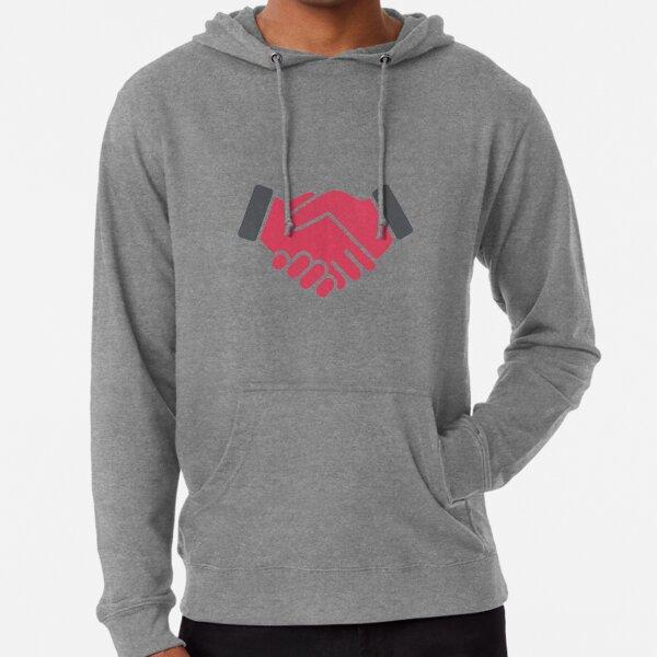 #Red #Handshake #Icon  Lightweight Hoodie