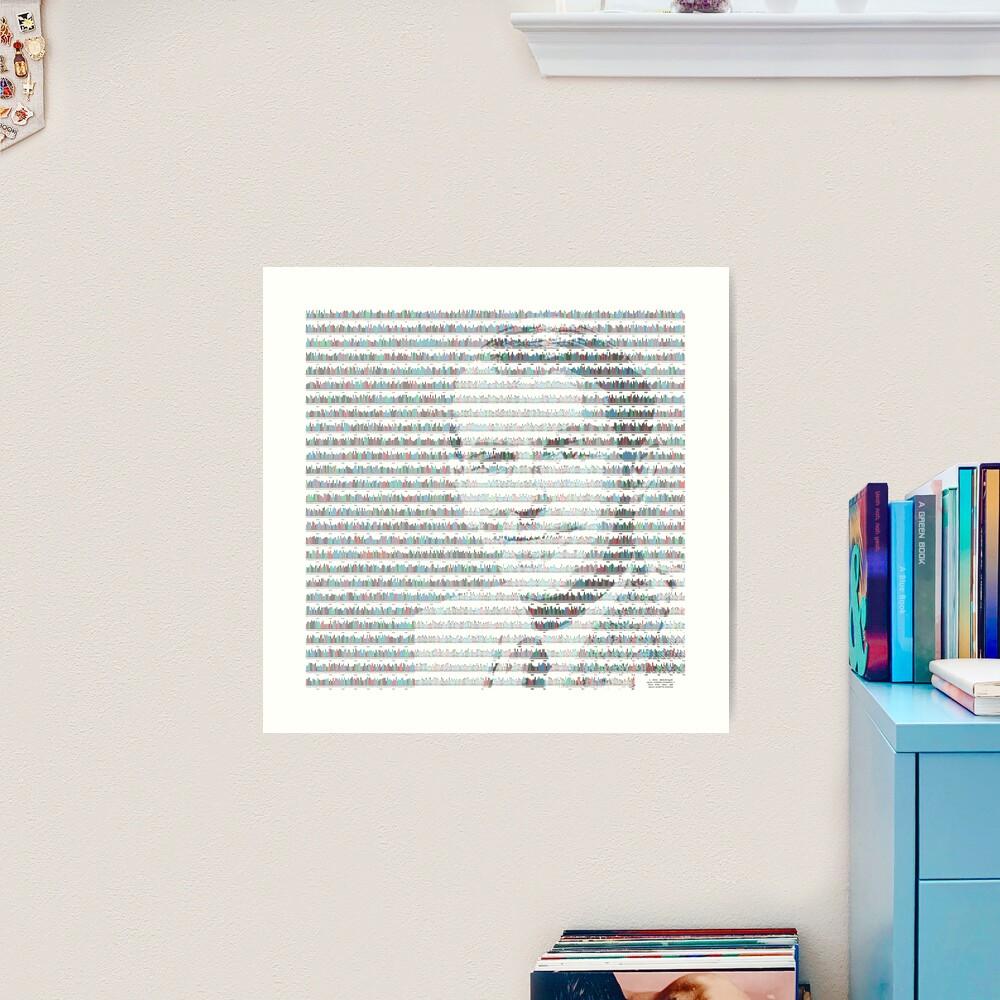 Fred Sanger in insulin gene sequence Art Print